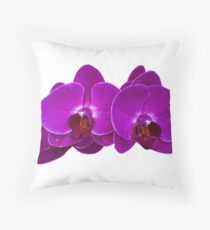 Fuchsia Phalaenopsis Throw Pillow