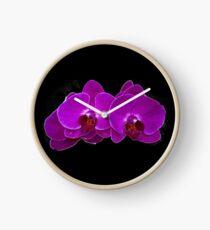 Fuchsia Phalaenopsis Clock