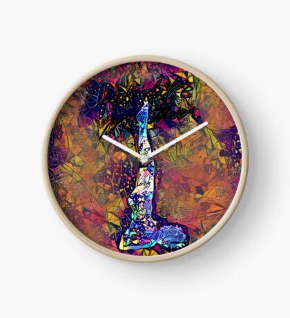 Abstract Feels Like Summer Clock
