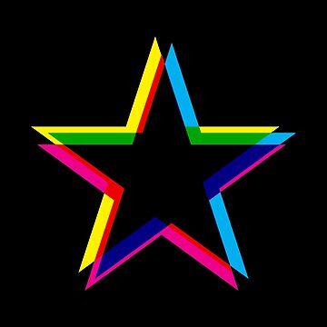 CMYK Star (black) by animinimal