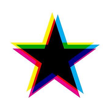 CMYK Star by animinimal