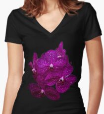 Orchids #9 Women's Fitted V-Neck T-Shirt