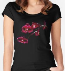 Orchids #8 Women's Fitted Scoop T-Shirt