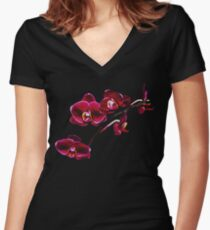 Orchids #8 Women's Fitted V-Neck T-Shirt