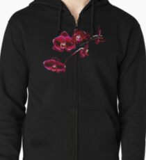 Orchids #8 Zipped Hoodie