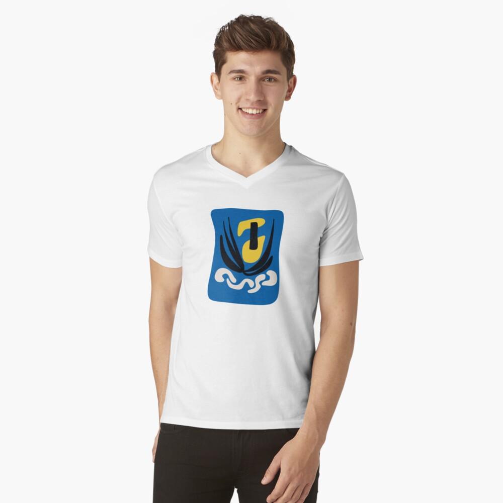 Matissian Couple  V-Neck T-Shirt