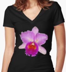 Orchid #7 Women's Fitted V-Neck T-Shirt