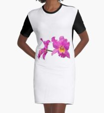 Orchids #3 Graphic T-Shirt Dress