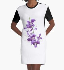 Orchids #2 Graphic T-Shirt Dress
