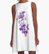 Orchids #2 A-Line Dress