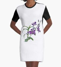 Orchids #1 Graphic T-Shirt Dress