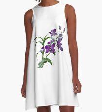 Orchids #1 A-Line Dress