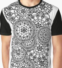 Delicate knitted lace of round doilies, seamless pattern Graphic T-Shirt