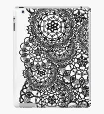 Delicate knitted lace of round doilies, seamless pattern iPad Case/Skin