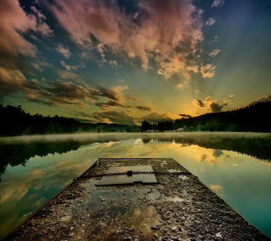 Sunrise over Jinolice by Stevacek