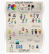 Color Theory Characters and Cosplay Poster