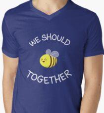 A bug's love life! Men's V-Neck T-Shirt