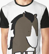MSPaint Horse Graphic T-Shirt