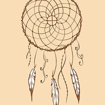 Medicine Wheel Dream Catcher  by ArtByDrax