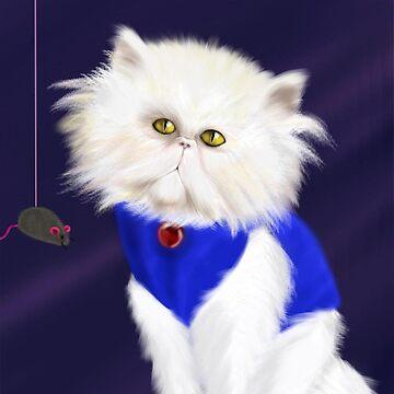 Cute Persian cat by Pariscolorful