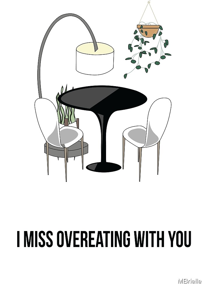 mid-century overeating greeting card by MBrielle