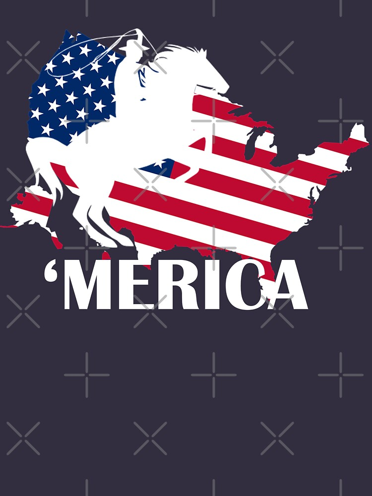 Horse Merica Patriotic - T Shirts by RadTechdesigns