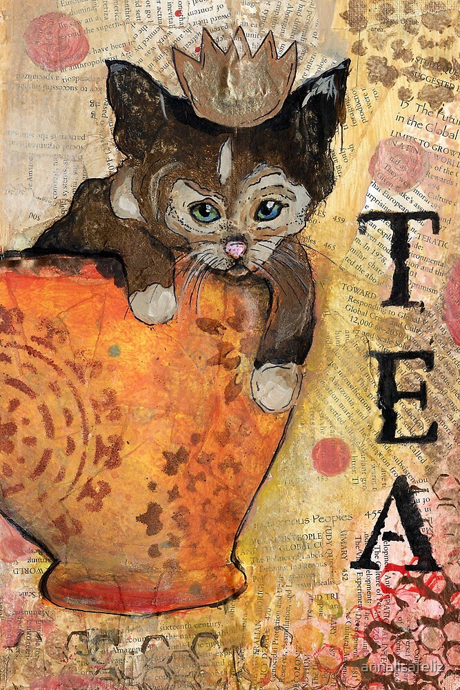 Tea With the Queen Card by annalisafeliz