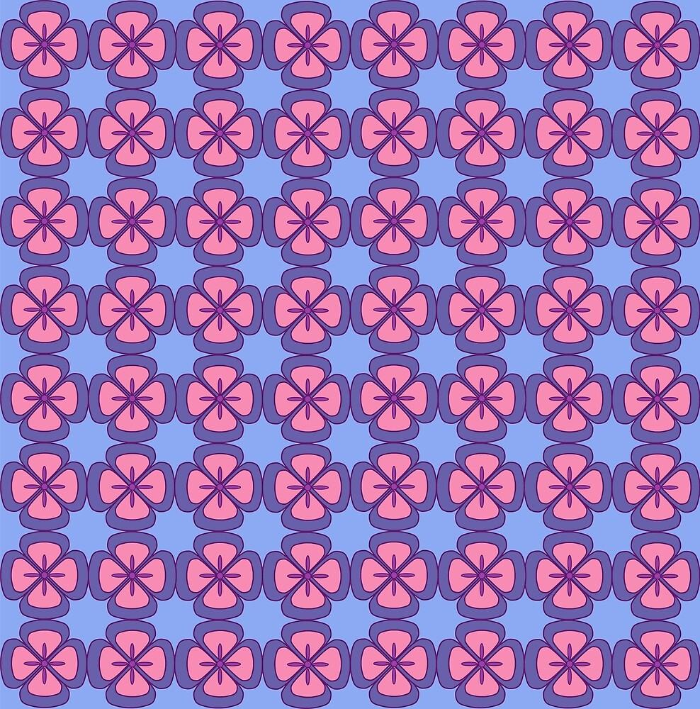 Bright Floral pattern. Elegant template for fashion prints. Ultraviolet. by VeronikArts