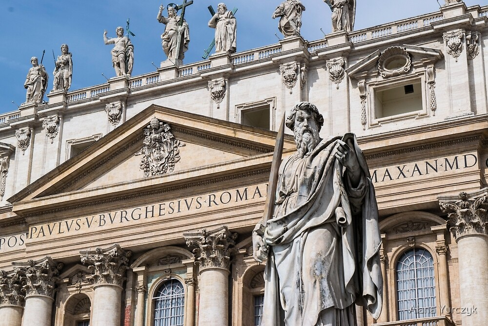 Front Facade of St. Peter's Basilica by Alana Yurczyk