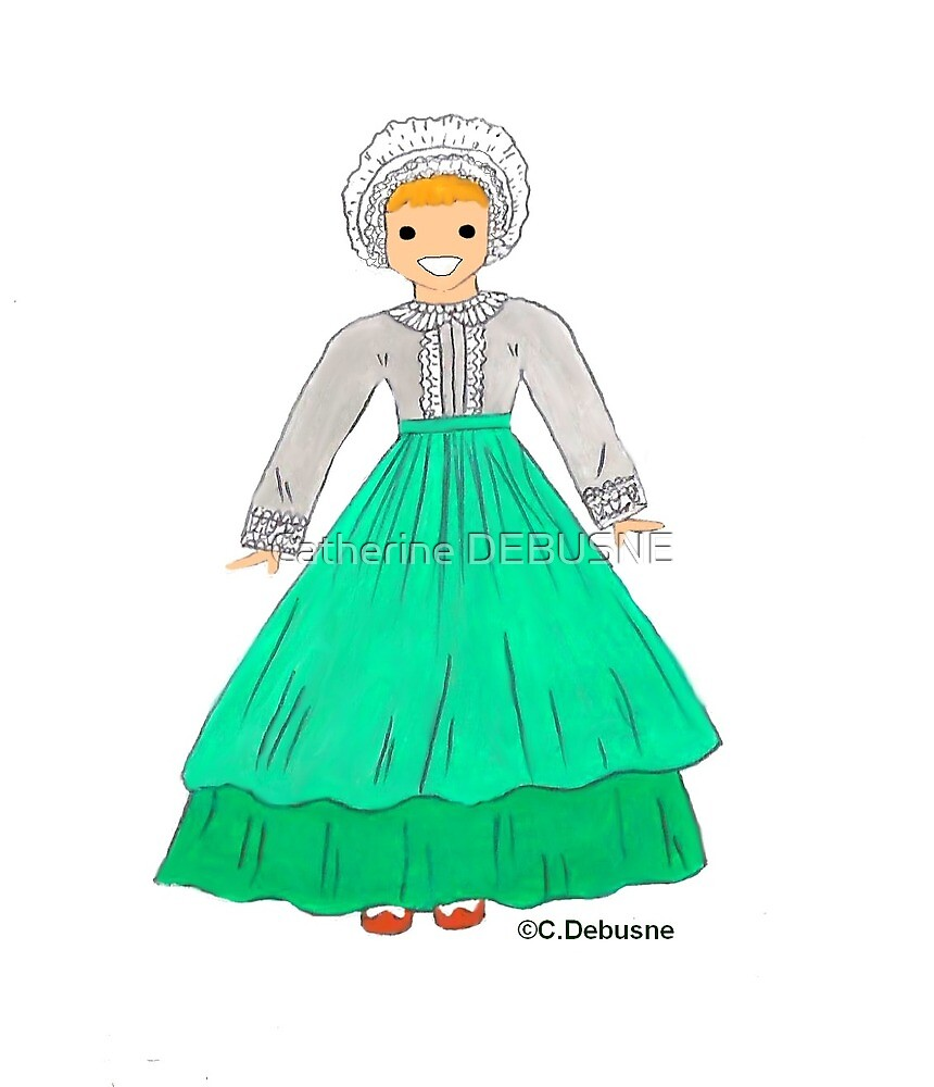 Costume of BOURBONNAIS, France by Catherine DEBUSNE