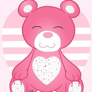 Pink Bear by Redvelvet4eVer