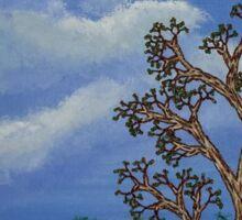 Eucalyptus and Thistles Sticker