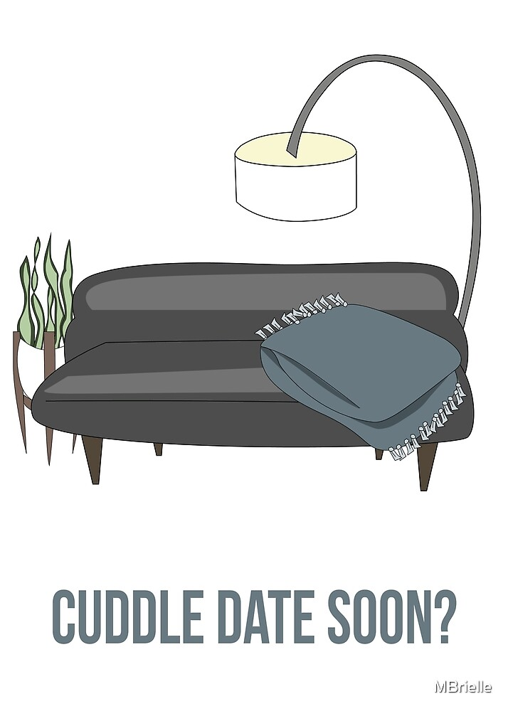 Cuddle Date Greeting Card by MBrielle