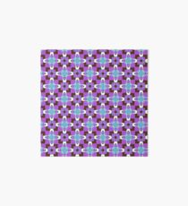 retro artwork style sixties seamless colorful repeat pattern Art Board