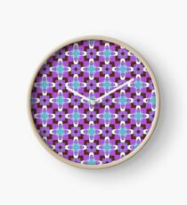 retro artwork style sixties seamless colorful repeat pattern Clock