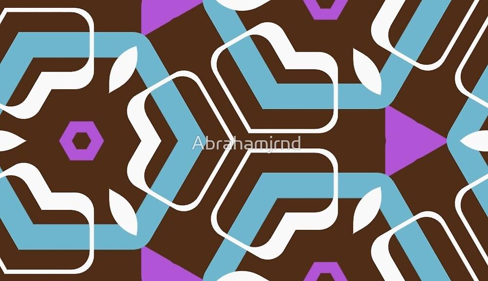 style decor artwork retro seamless colorful repeat pattern by Abrahamjrnd