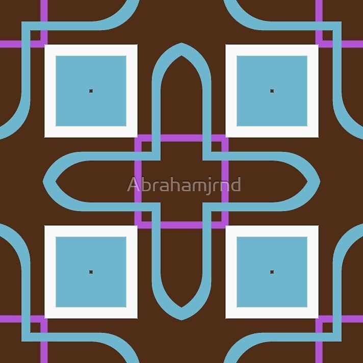 fashion rectangles shapes 60's artwork seamless colorful repeat pattern by Abrahamjrnd