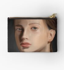Beautiful Girl Portrait Painting Studio Pouch