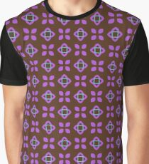 square style sixties seamless colorful repeat pattern Graphic T-Shirt