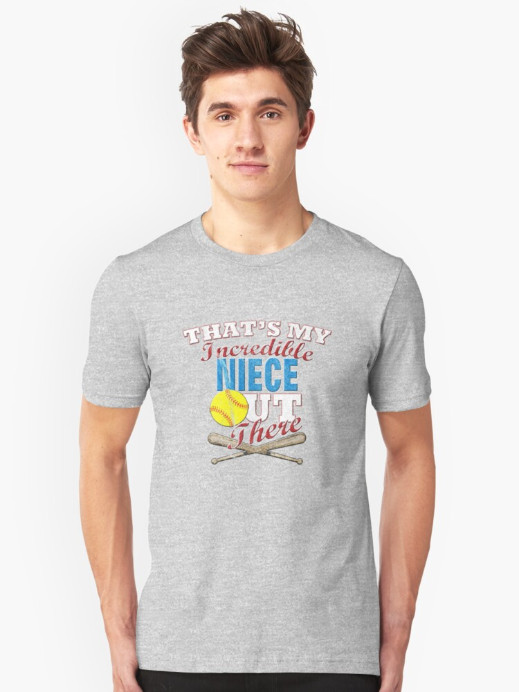 Softball Niece, Uncle or Aunt Gift Unisex T-Shirt Front