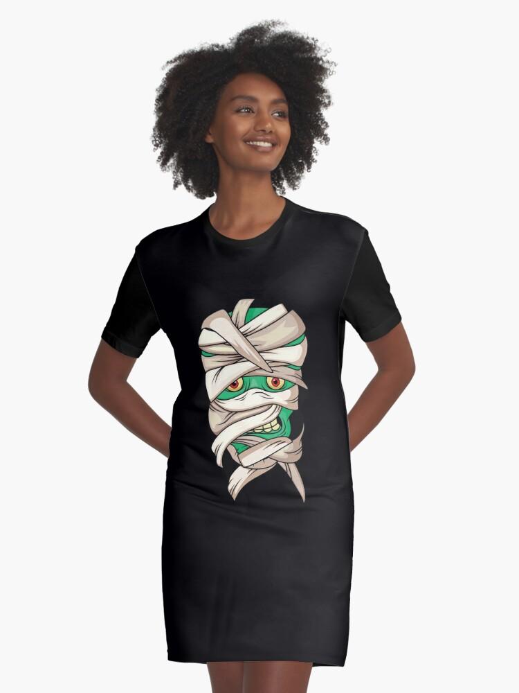mummy halloween Graphic T-Shirt Dress Front