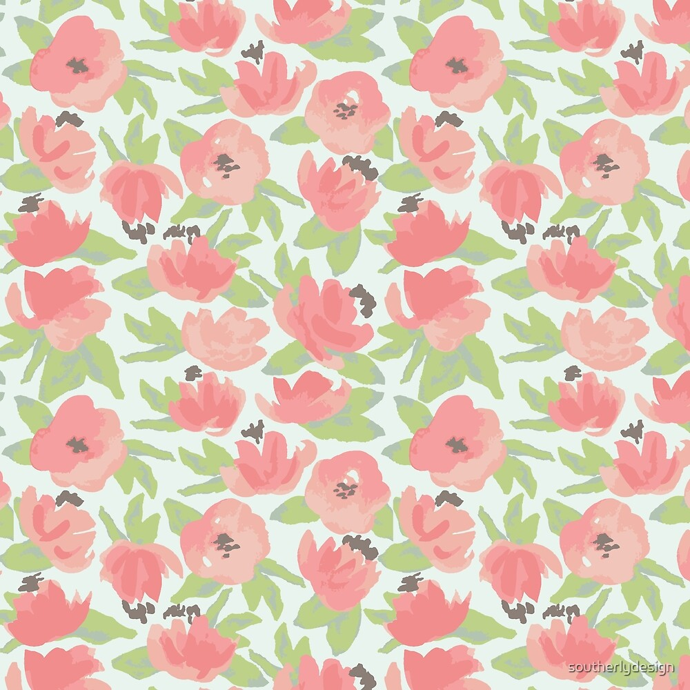 Watercolor Blooms by southerlydesign