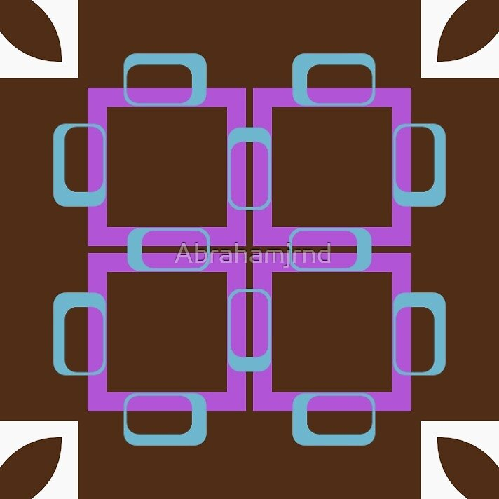 shapes pattern square seamless colorful repeat by Abrahamjrnd