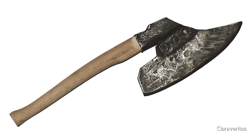 Old broad headed axe isolated  by Artur Mroszczyk