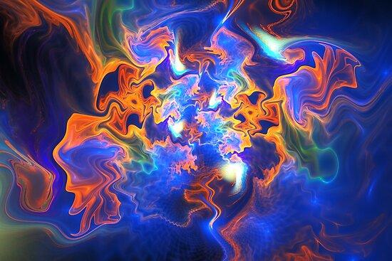 Fiery waves by Klavdiya Krinichnaya