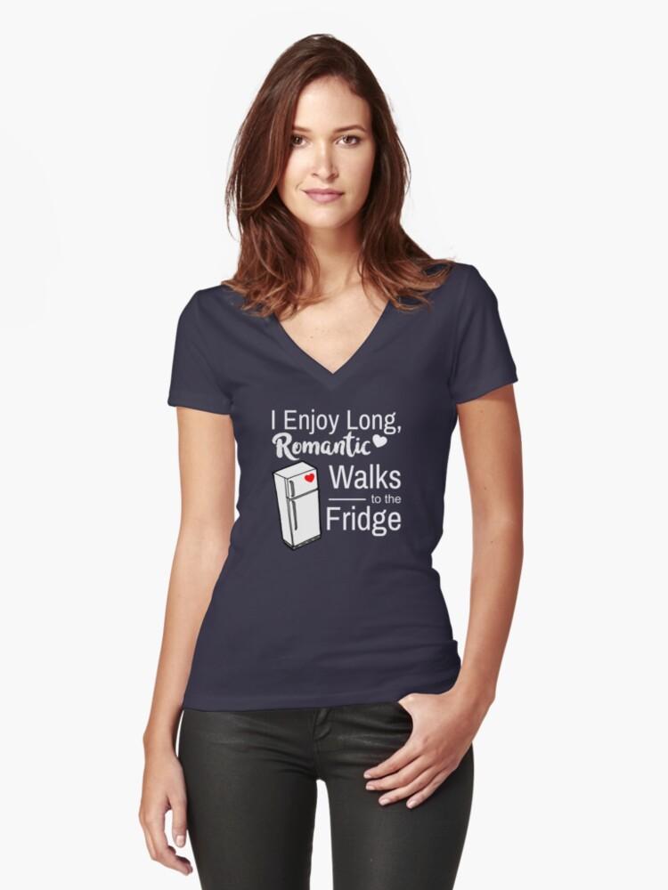 Fridge Romance Women's Fitted V-Neck T-Shirt Front