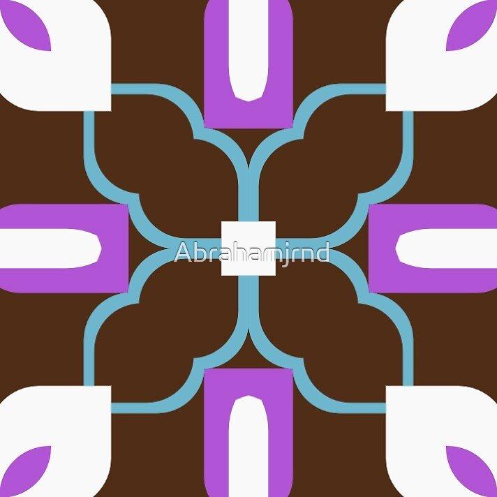 retro artwork fashion seamless colorful repeat pattern by Abrahamjrnd