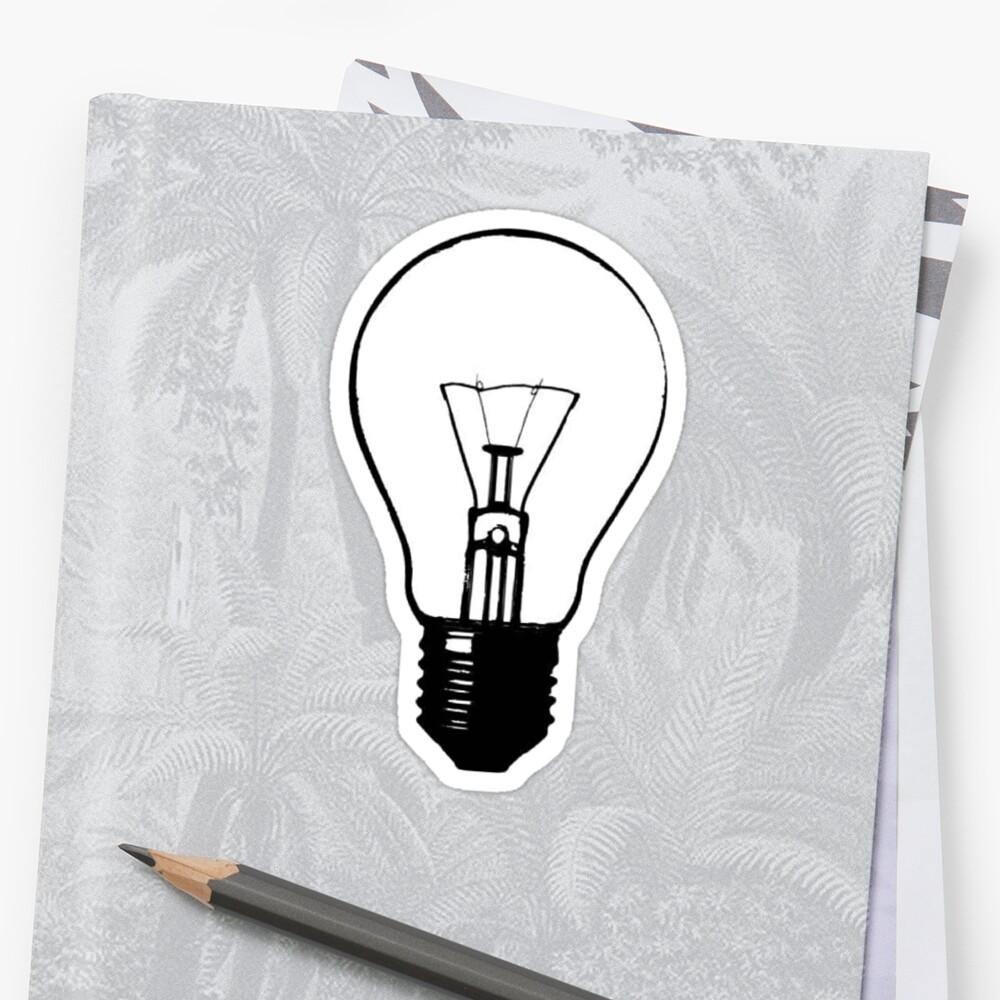 Lightbulb Sticker by MaddieMJF