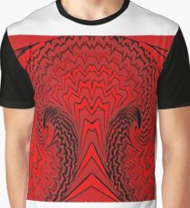 Black and red zigzag tree Graphic T-Shirt