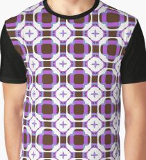 sixties square fashion retro shapes seamless colorful repeat pattern Graphic T-Shirt